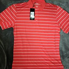 adidas Golf Shirt Mens PureMotion Striped Polo - Red White Stripe  S MSRP $55