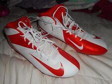 Nike Vapor Talon Elite MID Football Cleats Hyperfuse 14 Orange/White 603743-181