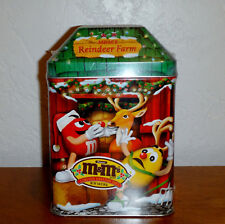 New 2003 M&M's CHRISTMAS VILLAGE LIMITED EDITION TIN REINDEER FARM No. 16 sealed