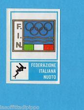 CAMPIONI dello SPORT 1973/74-Figurina n.224- FIN - NUOTO -STEMMA-Rec