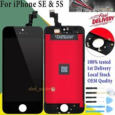 For iPhone SE 5S LCD Touch Screen Digitizer Assembly Replacement Frame Black UK