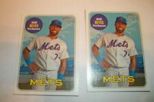 (2) 2018 TOPPS HERITAGE SP ERROR CARD #246 JOSE REYES NO STATS, VARIATION--METS-