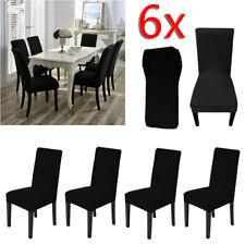 6x Coprisedie con schienale Elasticizzato Copertura della sedia per universale