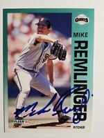 1992 Fleer Mike Remlinger Autograph Card Giants, Cubs, Braves Auto #646 Signed