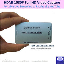 HDMI to USB Capture Card DSLR Camera Live Stream Broadcast on YouTube Facebook