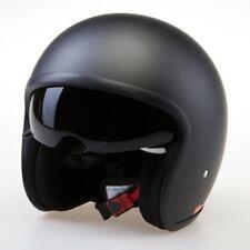 Viper RS-V06 Matt Black Motorcycle Bike Open Face Jet Crash Helmet Scooter NEW