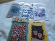 Lot of 5 Christmas craft and applique patterns-snowmen, Angels,Santa, reindeer