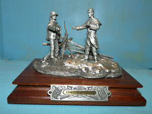 "Chilmark ""Christmas Truce"" Pewter Civil War Sculpture"