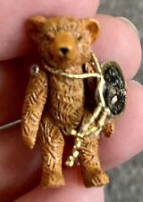 VINTAGE DOLLHOUSE MINIATURE HANTEL PEWTER TEDDY BEAR RETIRED SCOTLAND Tagged