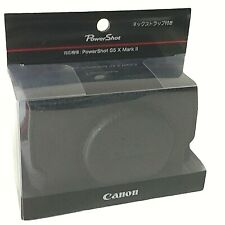 New CANON CSC-G11BK Soft Leather Case for PowerShot G5X Mark II Digital Camera