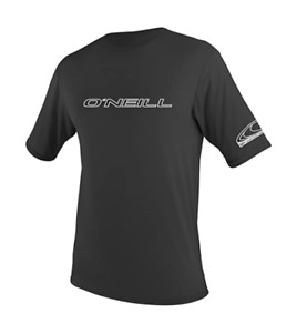 O'Neill Men's Basic Skins UPF 50+ Short Sleeve Sun Shirt Black Size Large