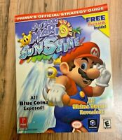 Super Mario Sunshine Prima's Official Strategy Game Guide Nintendo Gamecube 2002