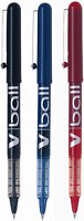 Pilot V Ball Liquid Ink Rollerball Pen 0.5mm Blistercard Of 3 (Black, Blue, Red)