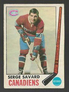 1969 OPC O-Pee-Chee SERGE SAVARD Rookie RC #4 Centered  Montreal Canadiens