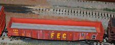 HO scale Athearn FEC 50' gondola with flat steel load train
