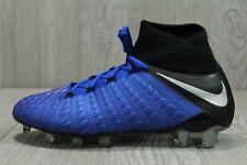 52 New Nike Hypervenom 3 Elite DF FG Blue Soccer Cleats AJ3803-401 Size US 7