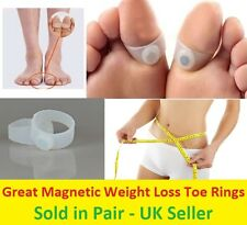 New Pair Magnetic Toe Ring Weight Loss Slimming Silicone Foot Fitness Health Fat
