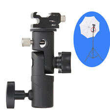 E Type Swivel Flash Bracket Umbrella Holder + Hot Shoe Stand Mount for Camera
