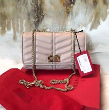 Valentino Rockstud Blush Leather Chevron Quilted Flap Bag $2300