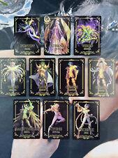 Saint Seiya soul of gold Olympians Play Golden Cards Flash Anniversary 10pcs
