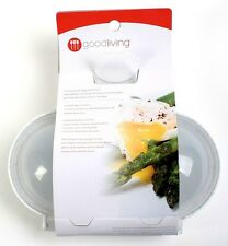 Good Living Foolproof Microwave Double Egg Poacher with Heat-Resistant Plastic