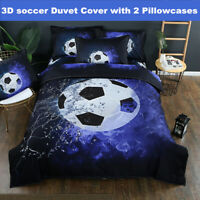 3D Football Soccer Duvet Quilt Cover Bedding Set Pillowcase Comforter Cover Set