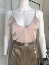 H&M Dusty Pink Silk Camisole Top XS EU34