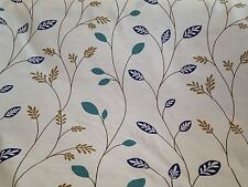 5 Metres Orla Kiely Retro Style Leaf And Stem Design Linen Weave Curtain Fabric