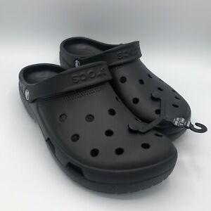 Crocs Coast Clog Black 204151-001 Classic Slip On Sandals Shoes Mens Unisex Size