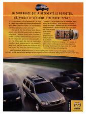 2000 MAZDA Tribute ES-V6 Original Print AD - Gray car photo French Canada