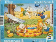 Schmidt Puzzle / Rahmenpuzzle 8 Teile Disney Tick, Trick und Track - ab 3 Jahre