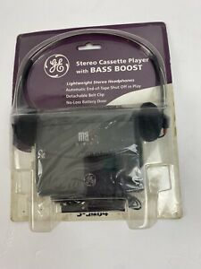GE Stereo Cassette Player with Bass Boost 3-5464 NEW Sealed Dirty Packaging