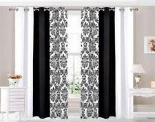 Rideaux et cantonnières noir sans marque en polyester pour la maison