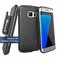 Encased® Samsung Galaxy S7 EDGE Belt Clip Holster Shell Combo Case w/Kickstand