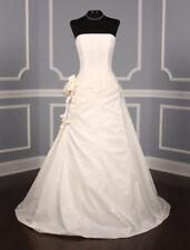 100% Authentic St. Pucchi Desiree Z106 Wedding Dress Silk Taffeta Aline 10