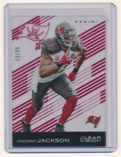 VINCENT JACKSON 2015 PANINI CLEAR VISION RED #12 22/25 *TAMPA BAY BUCCANEERS*