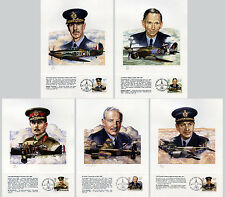 RAF Aircraft Lithograph Prints & Stamps 1986 limited edition Military