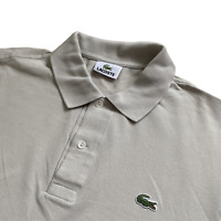 Vintage LACOSTE Polo Shirt | Size 4 | Medium M | Beige Classic 00s Short Sleeve