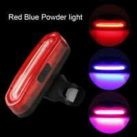 3Color Road Mountain Bike Tail Light Kit Rechargeable Cycling Waterproof Light m