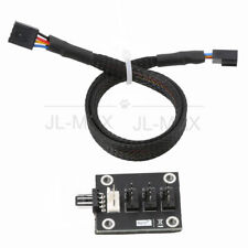 1 To 4 4-Pin Molex TX4 PWM CPU Cooling Fan Splitter Adapter Braided Power Cable