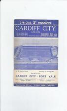 Cardiff City Home Teams Football FA Cup Fixture Programmes