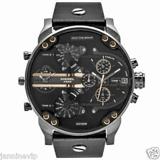 Diesel Original DZ7348 Mr Daddy 2.0 Black Leather Strap Chronograph Watch 57mm