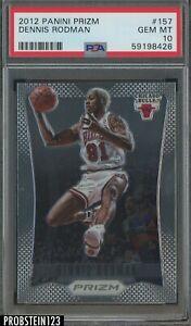 2012-13 Panini Prizm #157 Dennis Rodman Chicago Bulls HOF PSA 10 GEM MINT