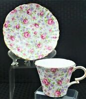 VINTAGE COLLECTIBLE ROYAL STANDARD FLORAL TEACUP & SAUCER 1076 MADE IN ENGLAND