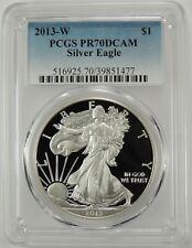 2013-W $1 AMERICAN SILVER EAGLE PROOF (ASE) PCGS PR70DCAM #39851477 DEEP CAMEO!!