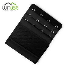 3 Rows 4 Hooks Bra Extender Strap Extension Black Women Intimate Belt Buckle EA