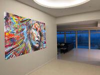 150cm Painting Canvas Street Art Graffiti Print urban  wall decor pepe design