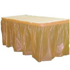 "Plastic Table Skirt 29"" x 14' Rectangular Party Disposable tableskirt- FREE SHIP"