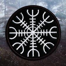 Norse Rune Aegishjalmr | Embroidered Patch | Pagan / Viking Metal | Paganism