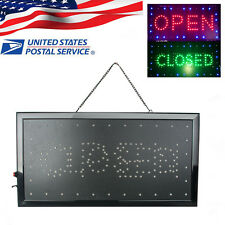 "9.8*20.47"" 2in1 Open&Closed Led Sign Store Shop Display Neon Light 2-5 Day Ship"